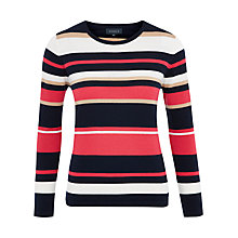 Buy Viyella Striped Merino Jumper, Red Online at johnlewis.com