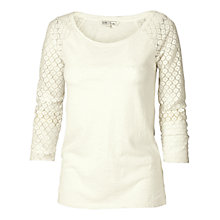 Buy Fat Face Lace Raglan T-Shirt Online at johnlewis.com