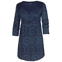 Buy Fat Face Hexagon Print Tunic Dress, Navy Online at johnlewis.com