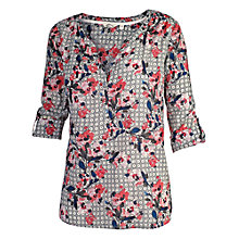 Buy Fat Face Petworth Blossom Geo Popover Blouse, Multi Online at johnlewis.com