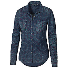 Buy Fat Face Hexagon Print Jersey Shirt, Navy Online at johnlewis.com
