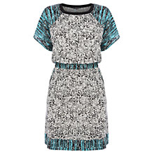 Buy Warehouse Printed Drawstring Waist Dress, Multi Online at johnlewis.com