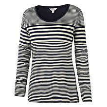 Buy Fat Face Variegated Stripe T-Shirt, Navy Online at johnlewis.com