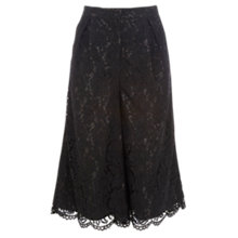 Buy Coast Rylene Lace Culotte, Black Online at johnlewis.com