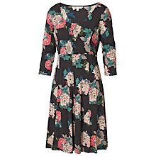 Buy Fat Face Rose Bouquet Dress, Black Online at johnlewis.com