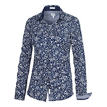 Buy Fat Face Classic Leaf Print Shirt, Navy Online at johnlewis.com