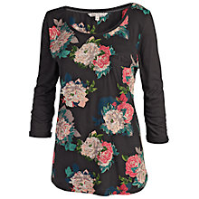 Buy Fat Face Ballina Rose Henley Tee, Black Online at johnlewis.com
