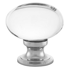 Buy John Lewis Cupboard Knob, Oval Glass Online at johnlewis.com