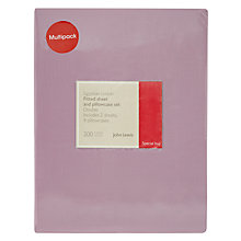 Buy John Lewis Egyptian Cotton 200 Thread Count Fitted Sheet and Pillowcase Set Online at johnlewis.com