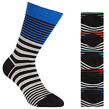 Buy John Lewis Bright Stripe Socks, Pack of 5, Multi Online at johnlewis.com