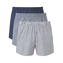 Buy John Lewis Simon Boxers, Pack of 3, Blue Online at johnlewis.com