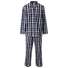 Buy John Lewis Timothy Savile Row Cotton Pyjamas, Blue Online at johnlewis.com