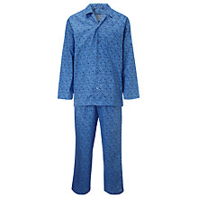 Buy John Lewis Cotton Savile Row Floral Archive Pyjamas, Blue Online at johnlewis.com