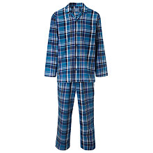 Buy John Lewis Cotton Saville Row Check Pyjamas, Blue Online at johnlewis.com