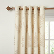 Buy John Lewis Chenille Fern Lined Eyelet Curtains, Natural Online at johnlewis.com