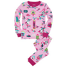Buy Hatley Girl's Bird House Pyjamas, Pink Online at johnlewis.com