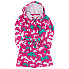 Buy Hatley Girls' Butterfly Towelling Robe, Pink Online at johnlewis.com