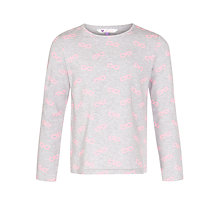 Buy John Lewis Girl Glasses Long Sleeve Top, Grey Marl Online at johnlewis.com