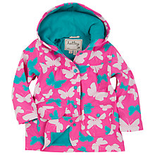 Buy Hatley Girls' Classic Butterfly Raincoat, Pink Online at johnlewis.com