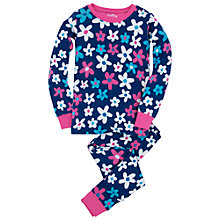 Buy Hatley Girl's Summer Garden Pyjamas, Blue Online at johnlewis.com