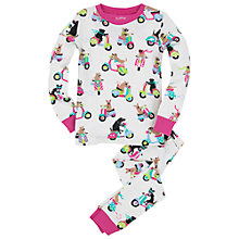 Buy Hatley Girls' Scooter Dog Pyjamas, Cream Online at johnlewis.com