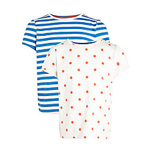 Buy John Lewis Girl Spot & Stripe T-Shirts, Pack of 2, Multi Online at johnlewis.com