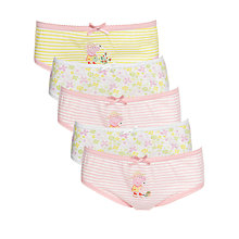 Buy Peppa Pig Girls' Briefs, Pack of 5, Multi Online at johnlewis.com