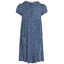 Buy John Lewis Girl Cherry Jersey Dress, Blue Online at johnlewis.com