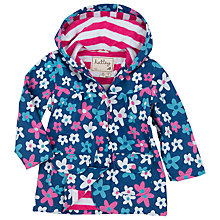 Buy Hatley Girl's Summer Garden Raincoat, Blue Online at johnlewis.com