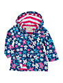 Hatley Girl's Summer Garden Raincoat, Blue