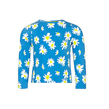 Buy John Lewis Girl Daisy Print Top, Blue Online at johnlewis.com