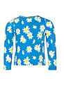 John Lewis Girl Daisy Print Top, Blue
