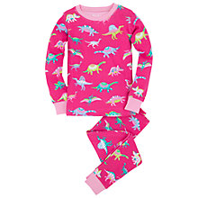 Buy Hatley Girl's Dino Pyjamas, Pink Online at johnlewis.com