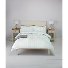 Buy John Lewis Jaques Stripe Duvet Cover and Pillowcase Set, Duck Egg Online at johnlewis.com