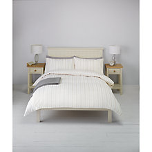 Buy John Lewis Jaques Stripe Duvet Cover and Pillowcase Set, Natural Online at johnlewis.com