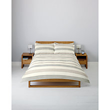 Buy John Lewis Celina Stripe Duvet Cover and Pillowcase Set, Natural Online at johnlewis.com