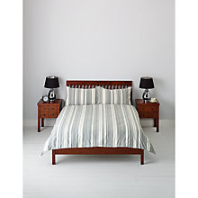 Buy John Lewis Dexter Woven Stripe Duvet Cover and Pillowcase Set Online at johnlewis.com
