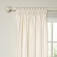 Buy John Lewis Croft Collection Ashbury Linen Lined Pencil Pleat Curtains, Marshmallow Online at johnlewis.com
