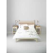 Buy John Lewis Eden Embroidered Duvet Cover and Pillowcase Set, Natural Online at johnlewis.com