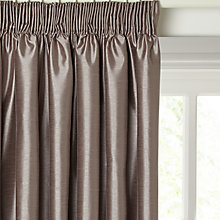 Buy John Lewis Faux Silk Blackout Lined Pencil Pleat Curtains, Mocha Online at johnlewis.com
