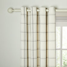 Buy John Lewis Summer Herringbone Check Lined Eyelet Curtains Online at johnlewis.com