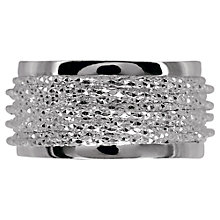 Buy Links of London Celeste Textured Wrap Ring, Silver Online at johnlewis.com