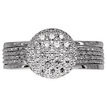 Buy Links of London Celeste Pave Cubic Zirconia Ring, Silver Online at johnlewis.com