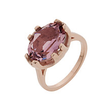 Buy Cabinet Rose Gold Plated Swarovski Crystal Beetle Oval Ring Online at johnlewis.com