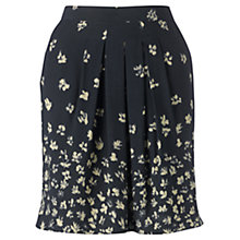 Buy Jigsaw Falling Flower Skirt, Dark Charcoal Online at johnlewis.com
