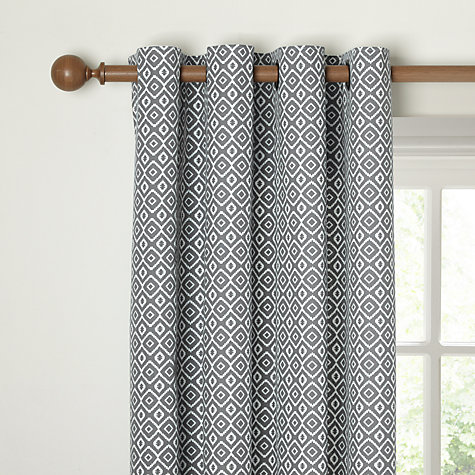 Buy John Lewis Nazca Pair Lined Eyelet Curtains John Lewis