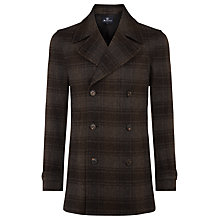 Buy Aquascutum Raleigh Check Peacoat, Brown Online at johnlewis.com