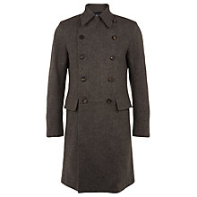 Buy Aquascutum Underhill Double Breasted Overcoat, Brown Online at johnlewis.com