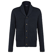 Buy Aquascutum Warren Shawl Collar Cardigan, Blue Online at johnlewis.com