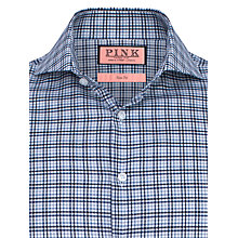Buy Thomas Pink Kyber Check Double Cuff Shirt, Navy Online at johnlewis.com